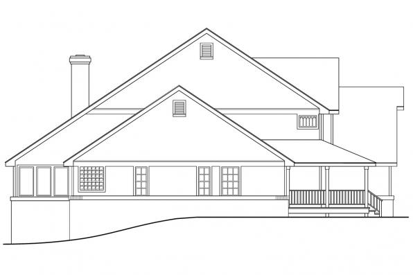Traditional House Plan - Clayton 10-292 - Right Elevation