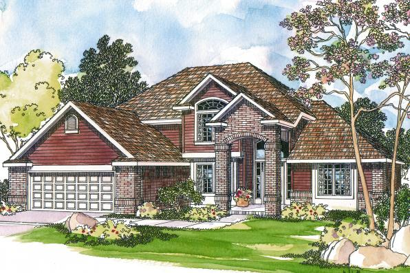 Traditional House Plan - Coleridge 30-251 - Front Elevation