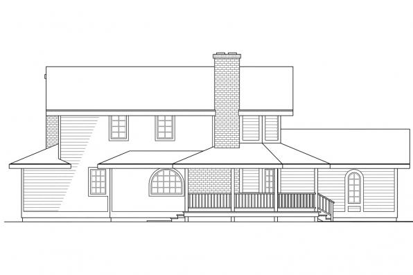 Traditional House Plan - Columbia 10-009 - Right Elevation