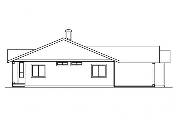 Traditional House Plan - Connelly 30-375 - Right Elevation