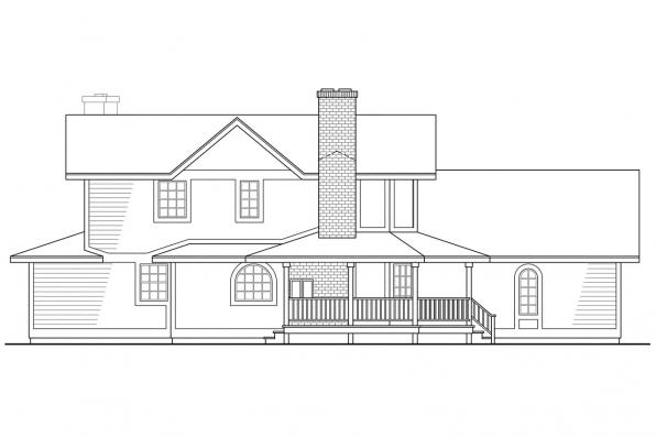 Traditional House Plan - Corbin 10-020 - Right Elevation