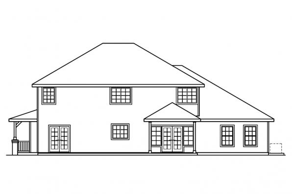 Traditional House Plan - Craigmont 30-464 - Rear Elevation