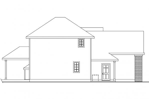 Traditional House Plan - Cranston 30-539 - Right Elevation