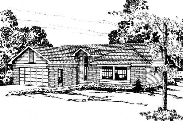 Traditional House Plan - Dakota 10-076 - Front Elevation