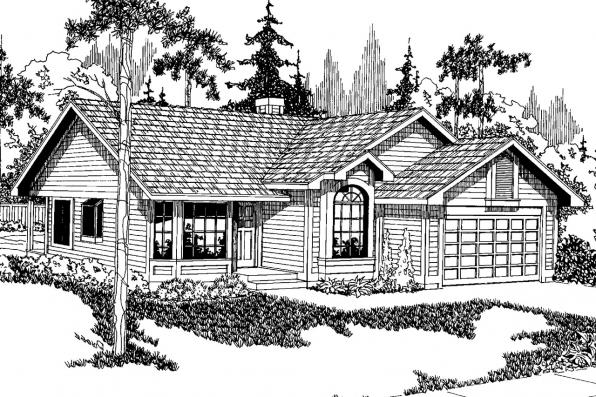 Traditional House Plan - Danforth 10-004 - Front Elevation