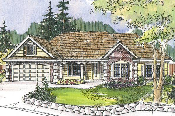 Traditional House Plan - Davidson 30-384 - Front Elevation