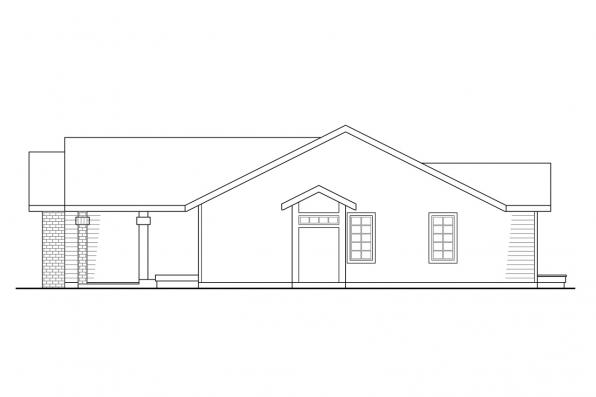 Traditional House Plan - Easton 10-133 - Left Elevation