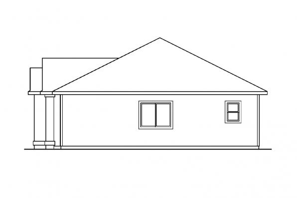 Traditional House Plan - Elliot 30-278 - Left Elevation