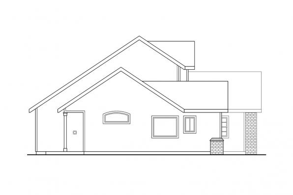 Traditional House Plan - Everett 30-176 - Right Elevation