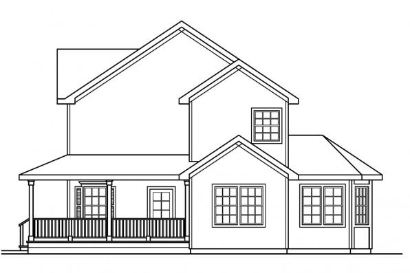 Traditional House Plan - Gifford 30-363 - Left Elevation