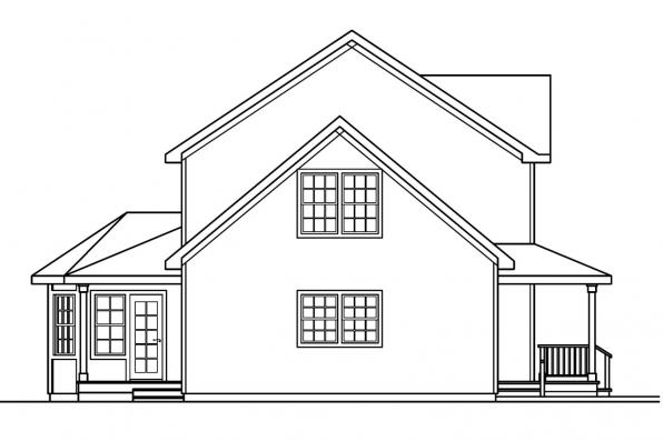 Traditional House Plan - Gifford 30-363 - Right Elevation