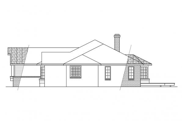 Traditional House Plan - Grayling 10-207 - Left Elevation
