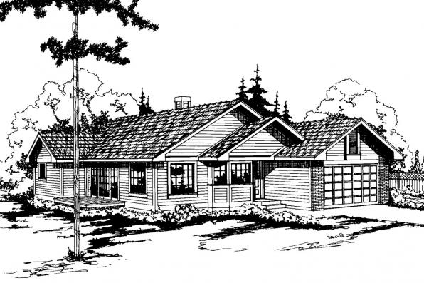 Traditional House Plan - Hampton 10-028 - Front Elevation