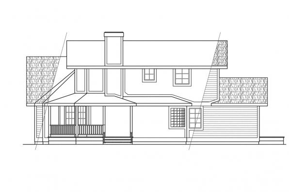 Traditional House Plan - Hayward 10-134 - Left Elevation