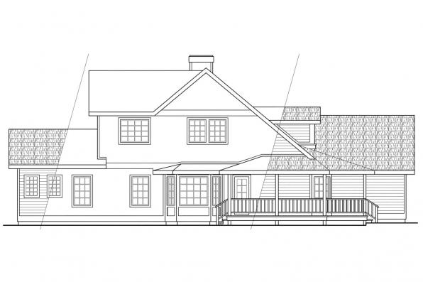 Traditional House Plan - Heartland 10-060 - Right Elevation