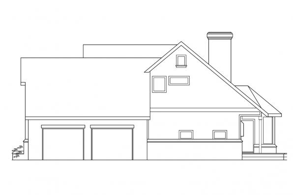 Traditional House Plan - Heartridge 10-250 - Left Elevation
