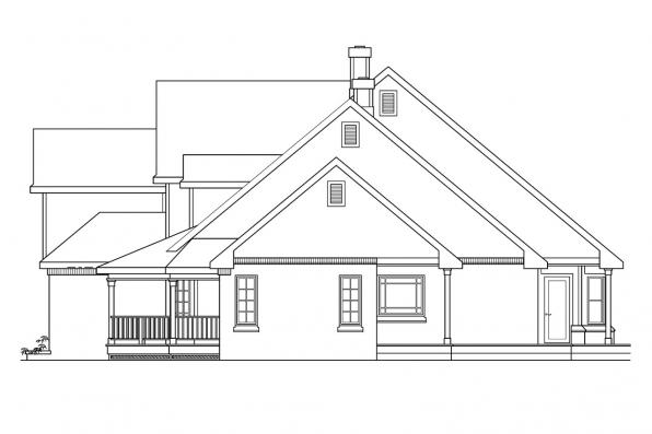 Traditional House Plan - Heartwood 10-300 - Left Elevation