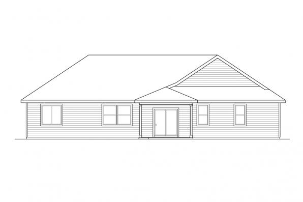 Traditional House Plan - Hyacinth 31-094 - Rear Elevation