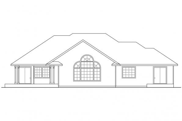 Traditional House Plan - Irvington 30-493 - Rear Elevation