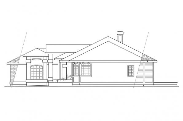 Traditional House Plan - Jamison 10-081 - Left Elevation