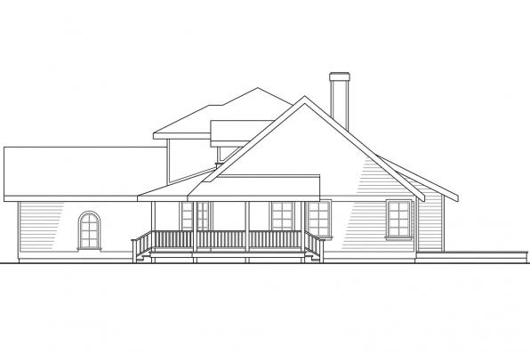 Traditional House Plan - Jasmine 10-001 - Left Elevation