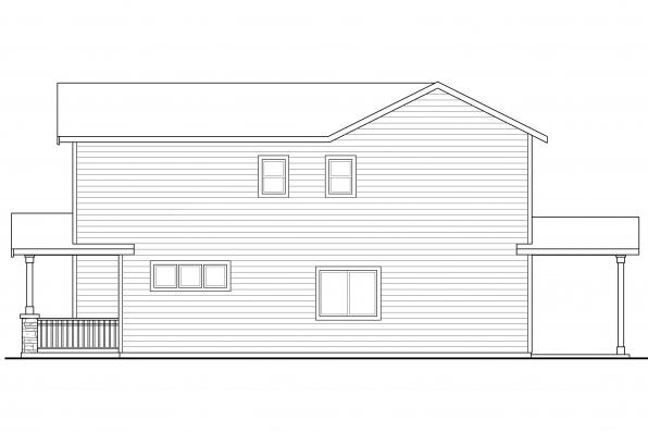 Traditional House Plan - Kennewick 60-037 - Left Elevation