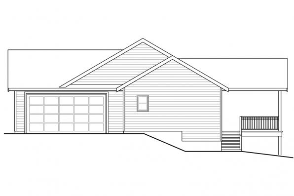 Traditional House Plan - Kensington 30-843 - Left Elevation