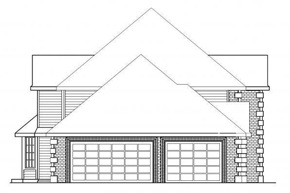 Traditional House Plan - Kersley 30-041 - Right Elevation