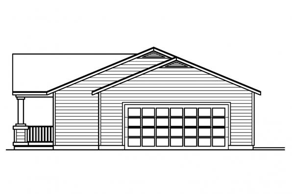 Traditional House Plan - Kettering 30-441 - Left Elevation