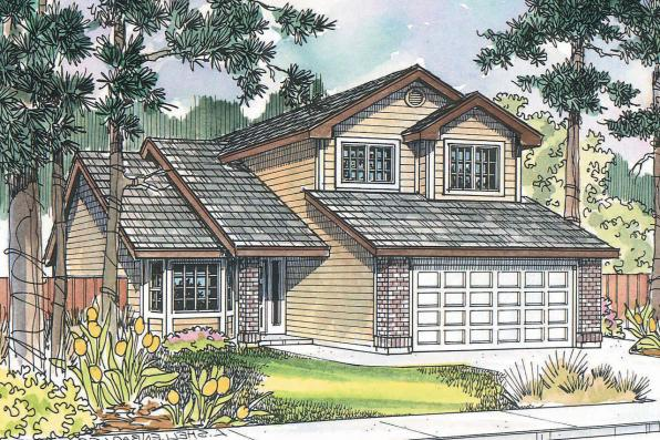Traditional House Plan - Knollwood 30-324 - Front Elevation