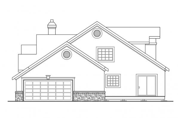 Traditional House Plan - Lafayette 10-156 - Left Elevation