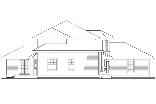 Traditional House Plan - Lindsey 10-022 - Right Elevation