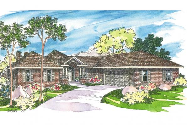 Traditional House Plan - Linfield 10-322 - Front Elevation