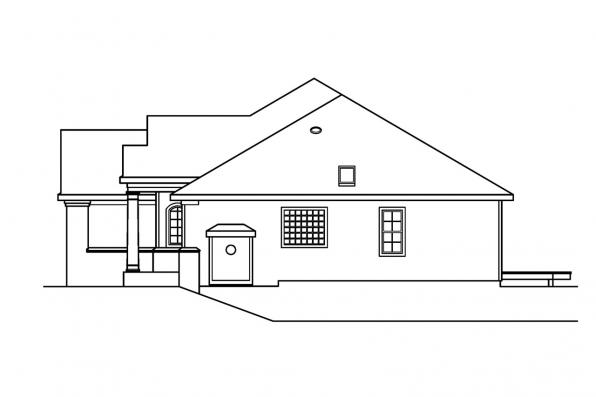 Traditional House Plan - Marlowe 30-362 - Left Elevation