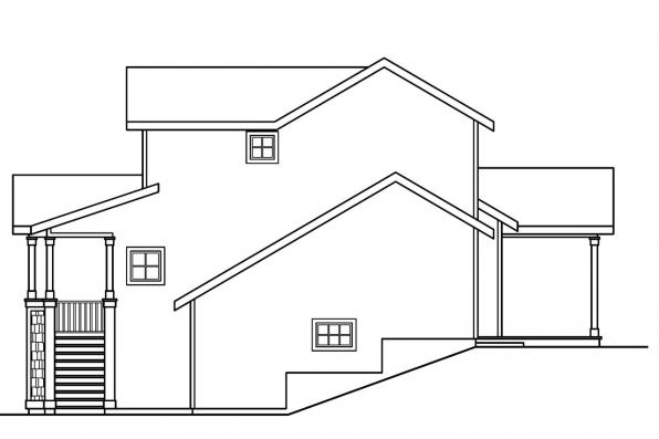 Traditional House Plan - Mathis 30-475 - Left Elevation