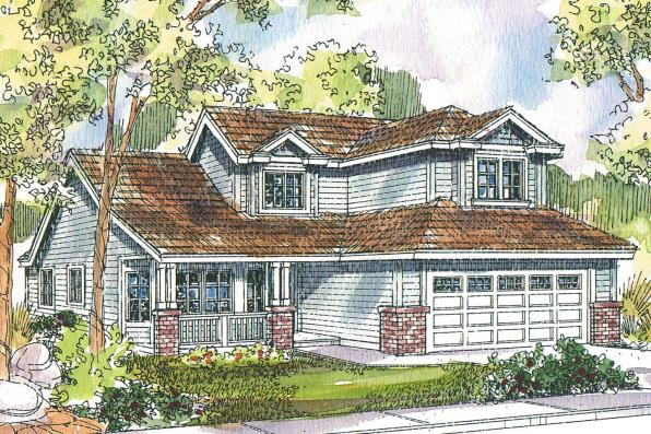 Traditional House Plan - McBride 30-488 - Front Elevation
