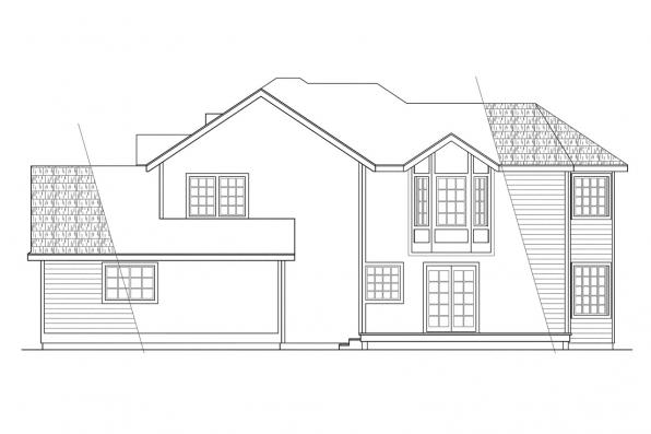 Traditional House Plan - Melville 10-096 - Left Elevation