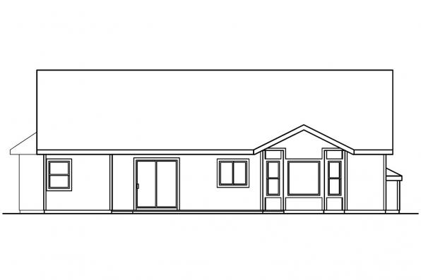Traditional House Plan - Morely 30-266 - Rear Elevation