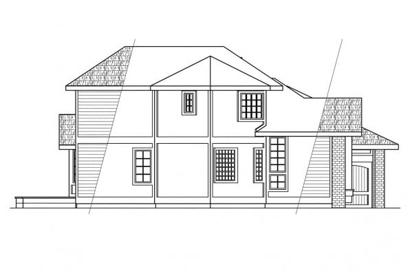 Traditional House Plan - Normandy 10-050 - Right Elevation