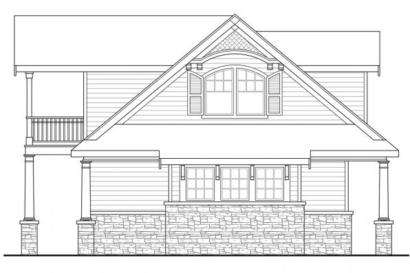 Traditional House Plan - Nottingham 30-965 - Garage Right Elevation