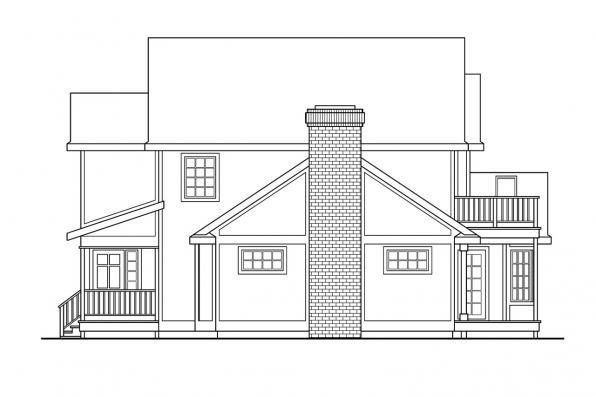 Traditional House Plan - Olympia 10-210 - Left Elevation