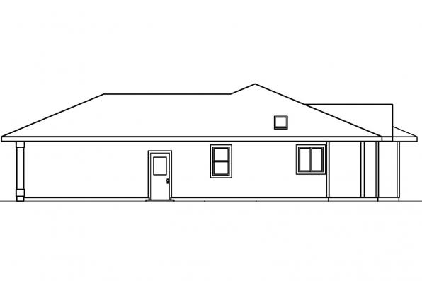 Traditional House Plan - Paxton 30-320 - Left Elevation