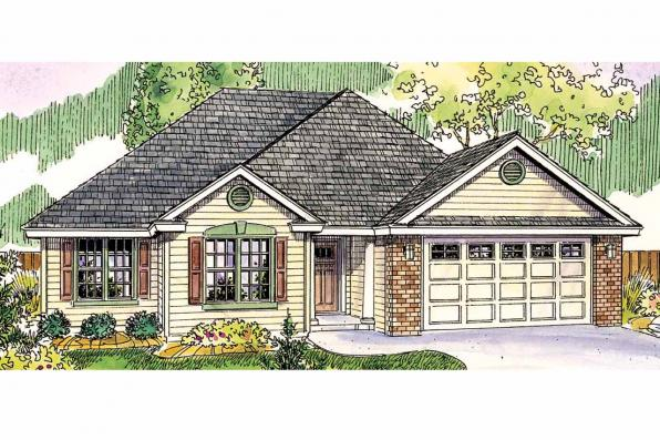 Traditional House Plan - Porterville 30-695 - Front Elevation