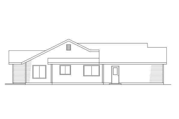 Traditional House Plan - Renton 10-177 - Right Elevation