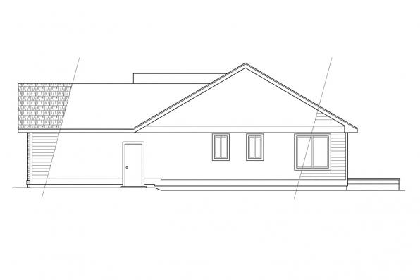 Traditional House Plan - Rexburg 30-068 - Left Elevation