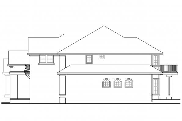 Traditional House Plan - Reynolds 30-396 - Left Elevation