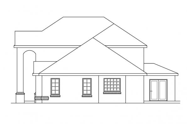 Traditional House Plan - Richfield 10-352 - Left Elevation