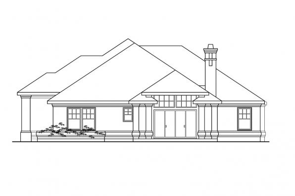 Traditional House Plan - Rosewood 10-402 - Left Elevation