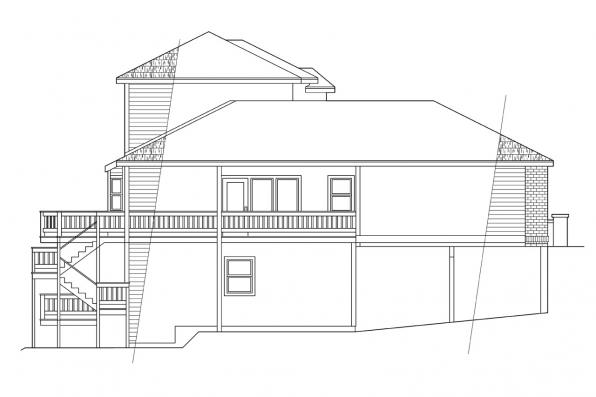 Traditional House Plan - Samuel 30-026 - Right Elevation