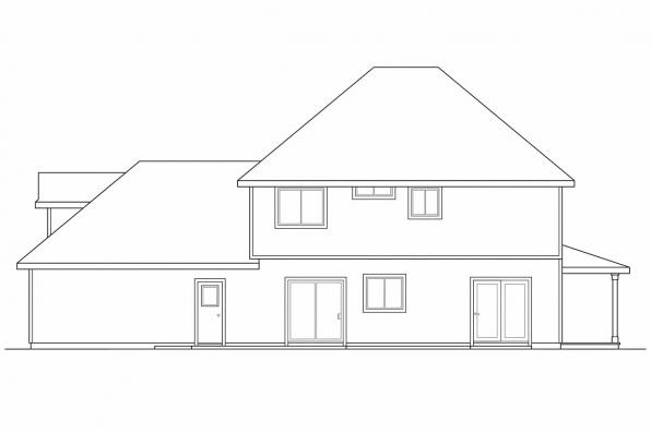 Traditional House Plan - Sedgewicke 30-094 - Rear Elevation